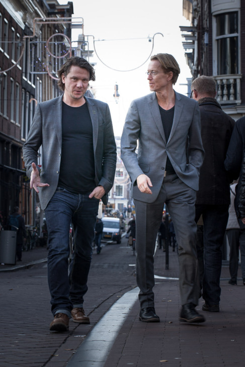 Thunberg y Roslund, por las calles de Estocolmo.