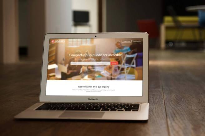 Imagen del portal de Stukers visto desde un ordenador.