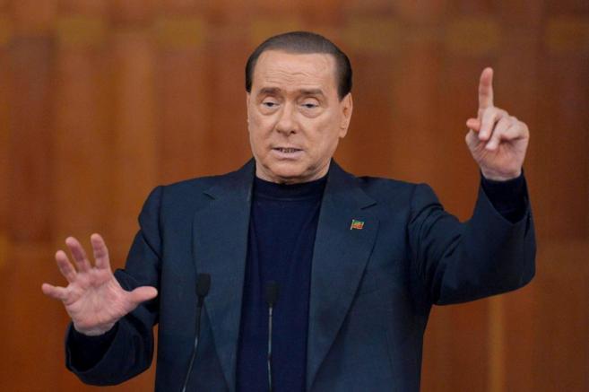 El ex primer ministro italiano Silvio Berlusconi, durante un acto en...