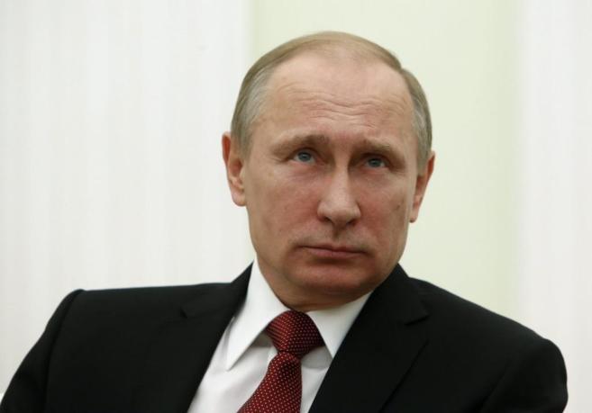 El presidente ruso, Vladimir Putin, durante una reunión en el...