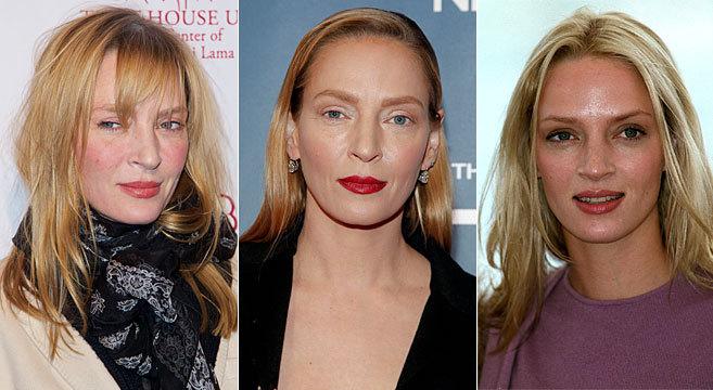 De izda a dcha, la actriz anoche, el pasado febrero y en una...