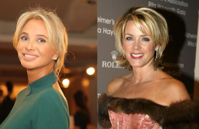 A la izquierda, la princesa Corinna. A la derecha, la periodista...
