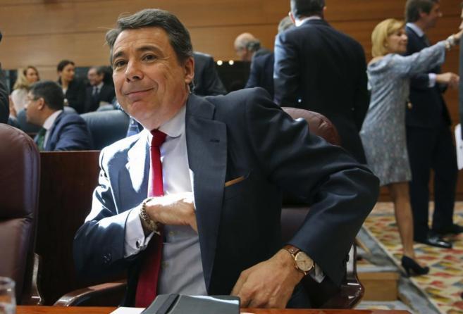 Ignacio González, en la Asamblea de Madrid.
