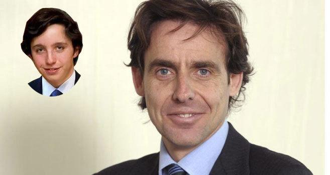 El empresario y yerno de Villar Mir Javier López Madrid y el pequeño...