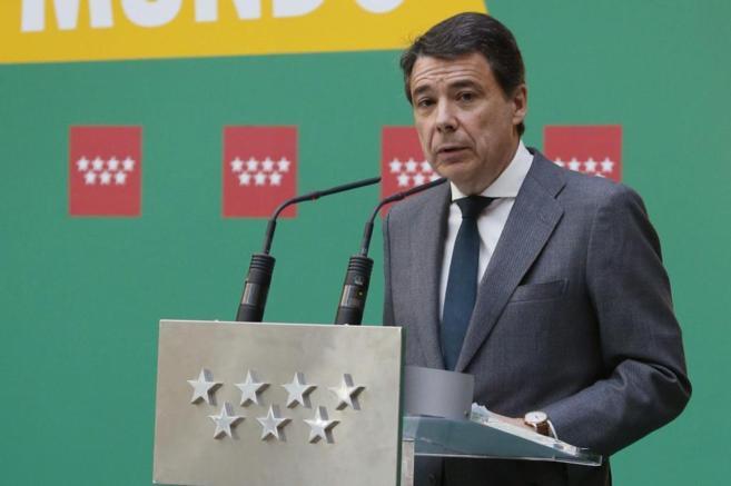 Ignacio González, durante su intervención en el acto que ha tenido...