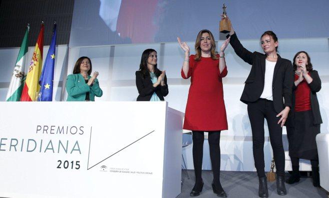 Susana Díaz durante la entrega de los Premios Meridiana del Instituto...