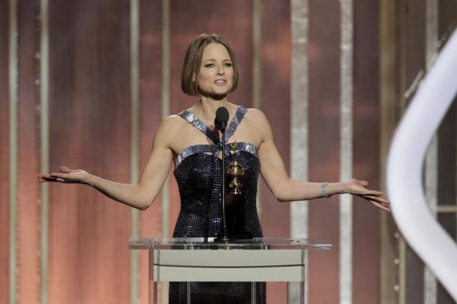 La actriz Jodie Foster, en la ceremonia de los Globo de Oro.