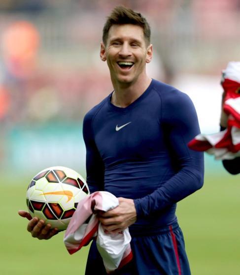 Messi, con el balón tras el 6-1 al Rayo.