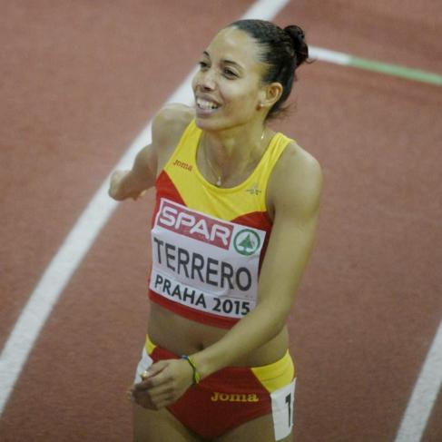 Indira Terrero, tras la prueba de 400 metros en el Europeo...