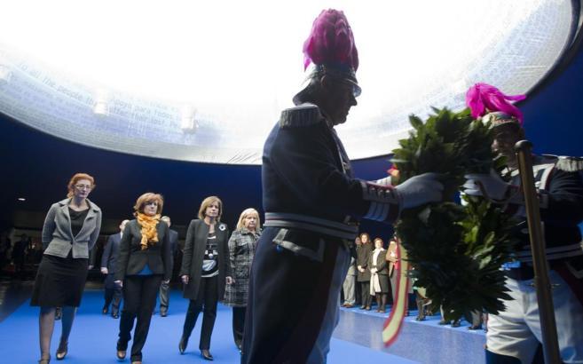 Acto de homenaje por las víctimas del 11-M en el monumento de la...