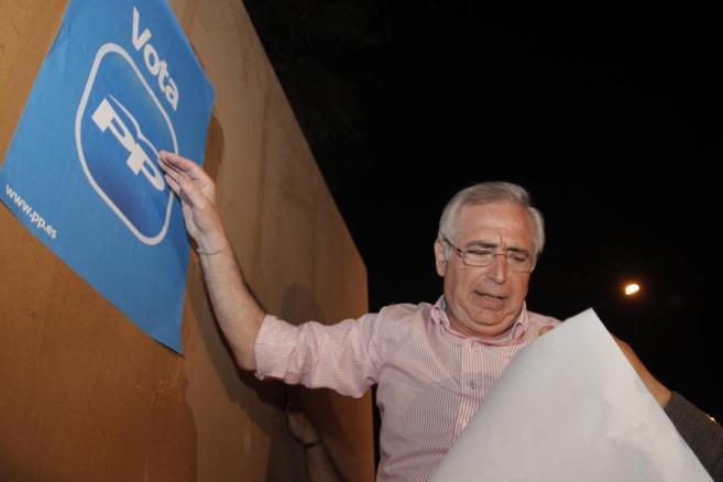Juan José Imbroda, presidente de Melilla, en un acto electoral.