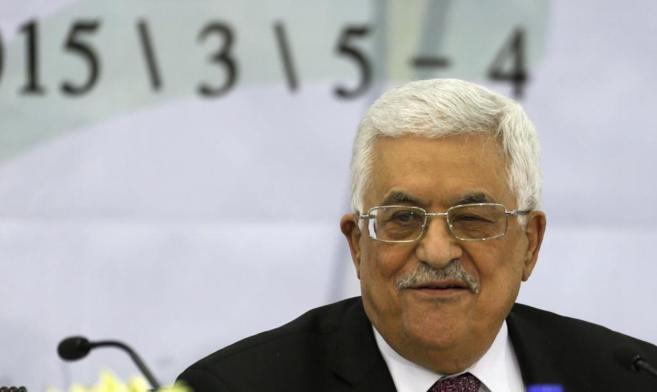 El presidente de la Autoridad Nacional Palestina, Abu Mazen, durante...