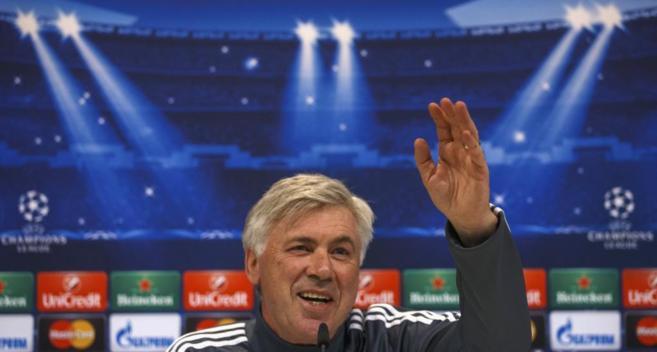 Ancelotti, en rueda de prensa.