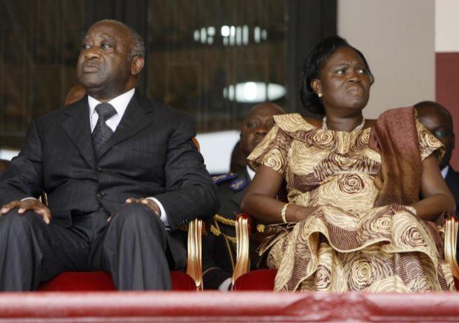 Simone Gbagbo, junto a su marido, el ex presidente Laurent Gbagbo.