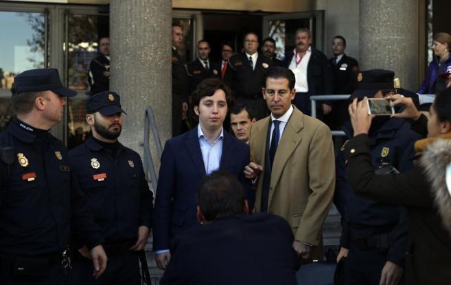 El pequeño Nicolás a su entrada a los juzgados de Plaza Castilla el...