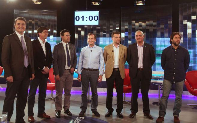 De izqda. a dcha., Carlos Rojas, Juan Marín, Mario Jiménez, Martín...