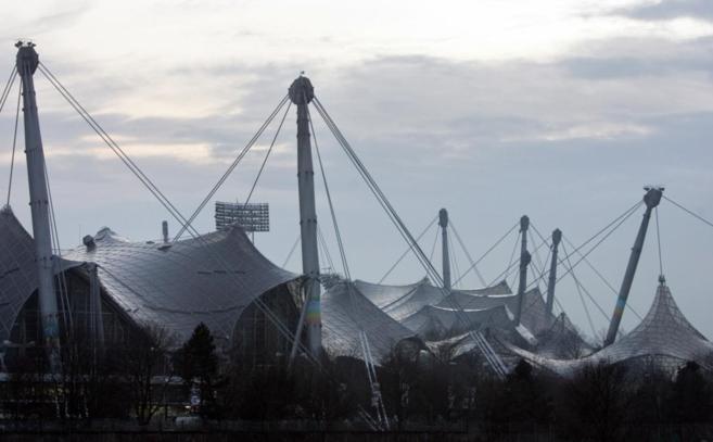 Vista del Estadio Olímpico de Munich, obra de Frei Otto.