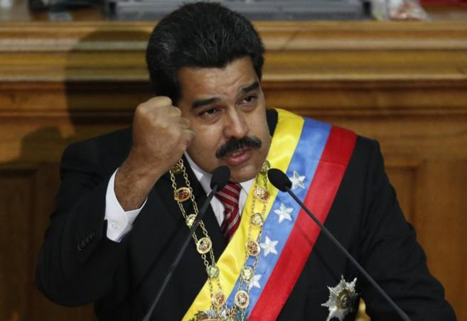 El presidente venezolano Nicolás Maduro, en la Asamblea Nacional.