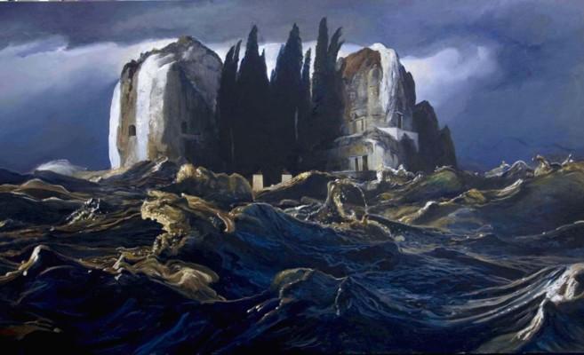 'La isla de Böcklin' del artista mexicano Eric Pérez.