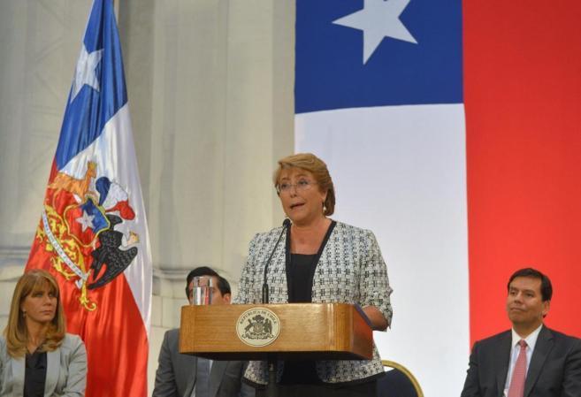 Michelle Bachelet, durante una rueda de prensa el pasado 10 de marzo