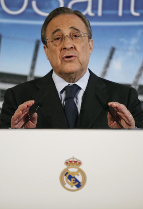 Florentino Pérez, durante la rueda de prensa.
