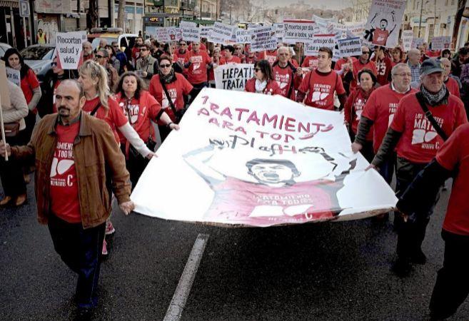 Manifestación de la Plataforma el pasado uno de marzo por las calles...