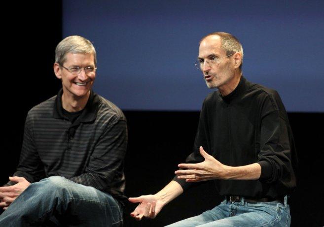 Cook y Jobs, en 2010.