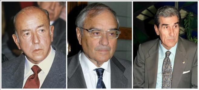 José Utrera Molina, Rodolfo Martín Villa y Fernando Suárez.