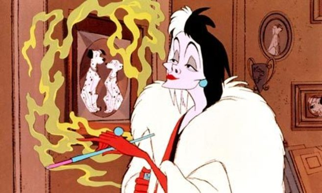 Cruella de Vil, en '101 dálmatas'.