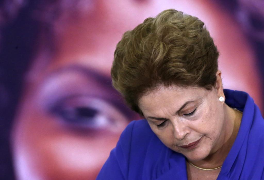 La presidenta de Brasil, Dilma Rousseff, durante un acto en Brasilia.