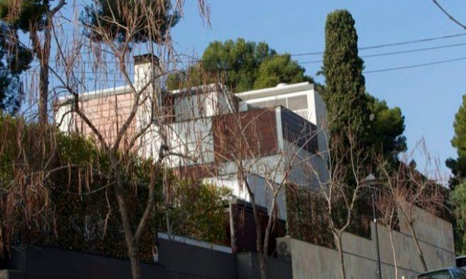 Fachada del palacete de Pedralbes propiedad de Urdangarín y la...