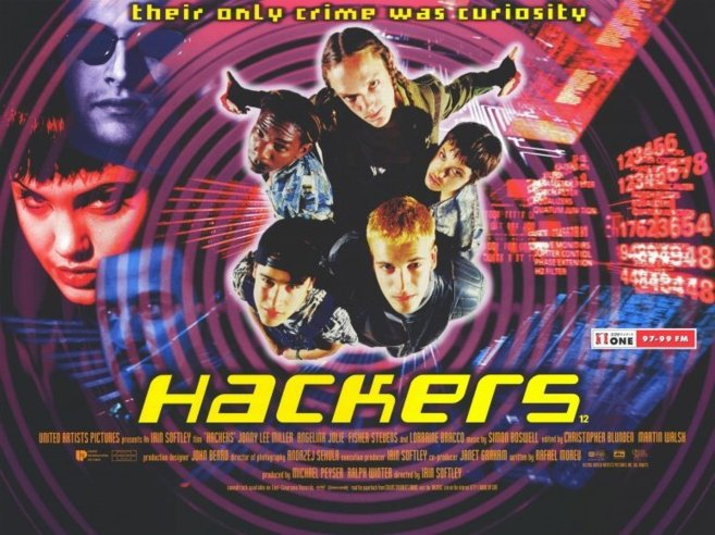 Poster de la película 'Hackers', que se estrenó en 1995.