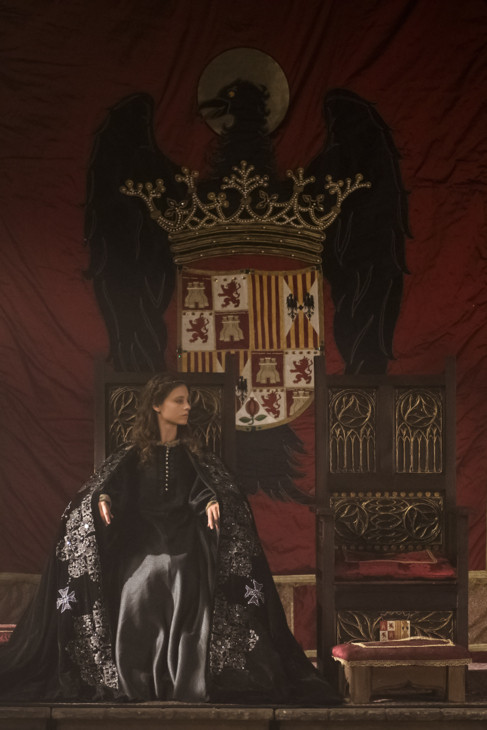 Michelle Jenner, en el papel de Isabel la Católica, sin Fernando...