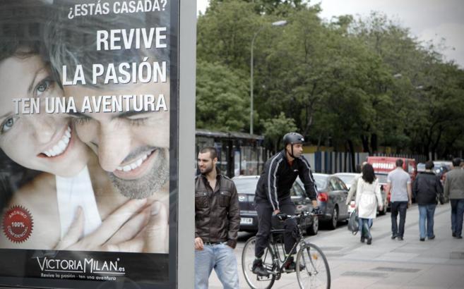Soporte publicitario en una calle de Madrid.
