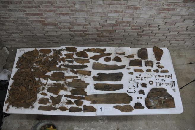 Restos hallados en el convento de las Trinitarias.