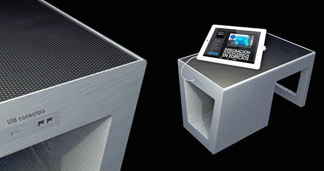 El sistema para mobiliario urbano de Onyx Solar. / EL MUNDO