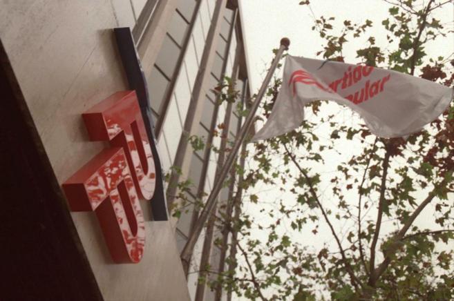 Fachada de la sede del PP en la calle Génova de Madrid.