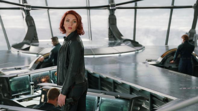 Scarlett Johansson en 'Vengadores' (2012).