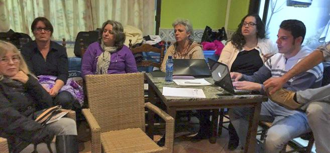 Ainhoa Barajas Nájera (segunda por la derecha), hija de la histórica...