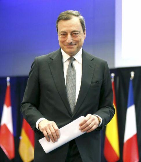 Mario Draghi, durante el acto de este miércoles.