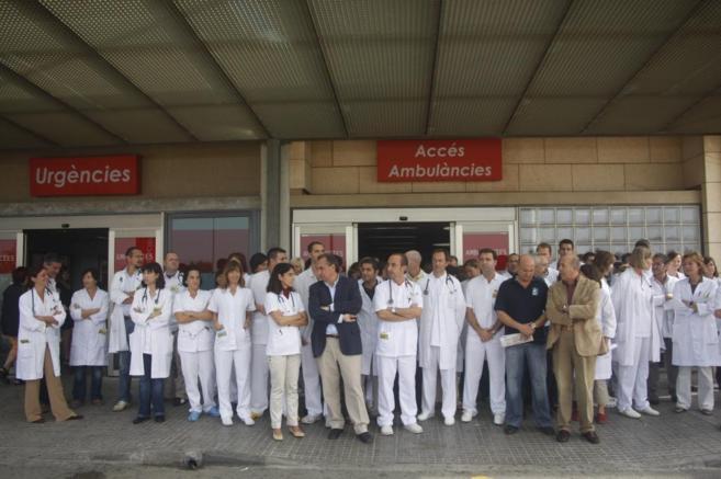 Médicos que se movilizan para pedir más protección.