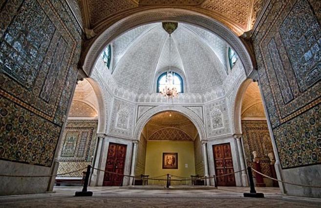 Interior del Museo del Bardo en Túnez.