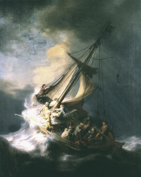 'La tormenta en el mar de Galilea', pieza de Rembrandt...