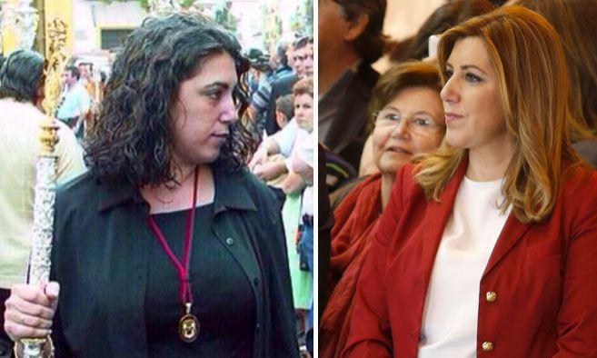 Susana Díez hace más de 15 años (izqda) y (dcha) la candidata en la...