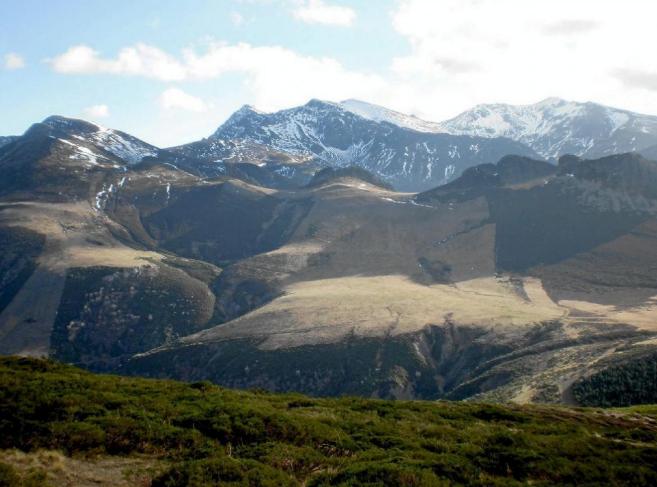 Vista de la Montaña Palentina en el entorno donde se pretendía...