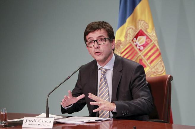 Rueda de prensa del ministro de Finanzas de Andorra, Jordi Cinca