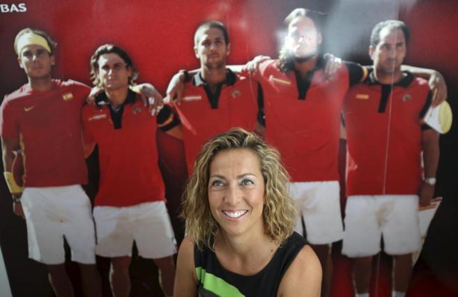 Gala León, durante la rueda de prensa que anunció su capitanía del...