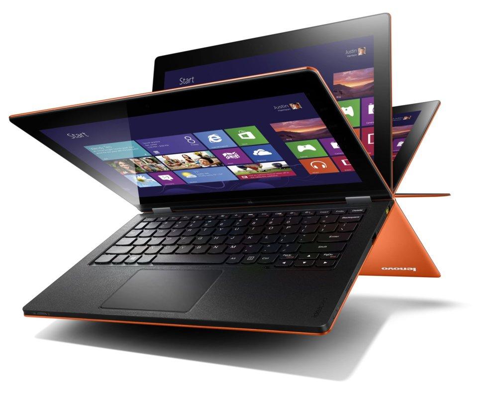 <STRONG> EL EQUIPO DE LAS MIL POSTURAS / Lenovo Yoga 3 Pro.</STRONG> El mayor fabricante de ordenadores del mundo se ha convertido también en uno de los mayores defensores del formato 2 en 1, equipos que pueden funcionar tanto como un portátil convencional como una tableta. Su gama Yoga puede alternar entre  tableta, atril o portátil convencional gracias a una bisagra que gira 360 grados. Su último modelo es el Yoga Pro 3, con una pantalla de 13,3 pulgadas y procesadores Core M y menos de 13 milímetros de grosor.