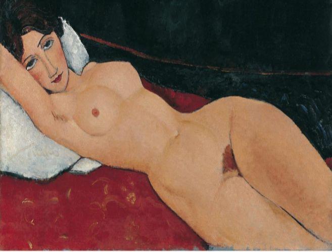 Uno de los famosos desnudos del pintor italiano