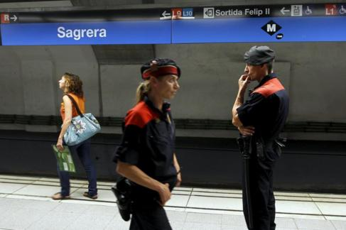 Dispositivo de seguridad en una estación de metro